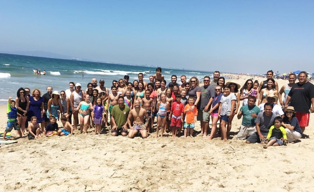 GBGG students and family members at Bolsa Chica State Beach in Huntington Beach, California