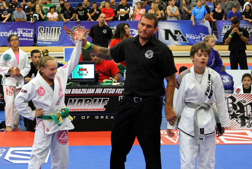 Carissa Odasso wins big match in All American BJJ tournament here in Cypress