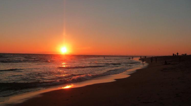 Sunset over Bolsa Chica State Beach